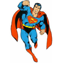 A flying Superman image